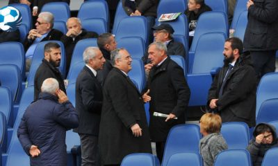 Claudio Lotito in tribuna