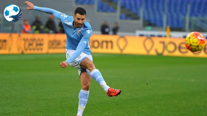 Antonio Candreva con la maglia della Lazio
