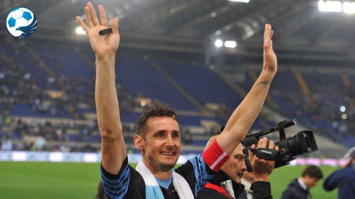 Klose ultima apparizione con la maglia della Lazio