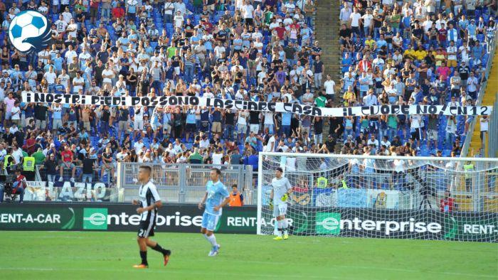 Striscione Curva Nord Lazio Juventus