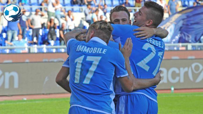 Esultanza della Lazio