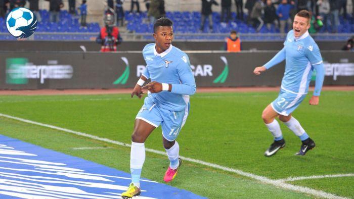 Keita Balde Diao esulta dopo il gol