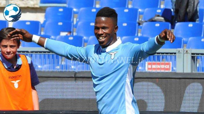 Keita esulta con la maglia della Lazio