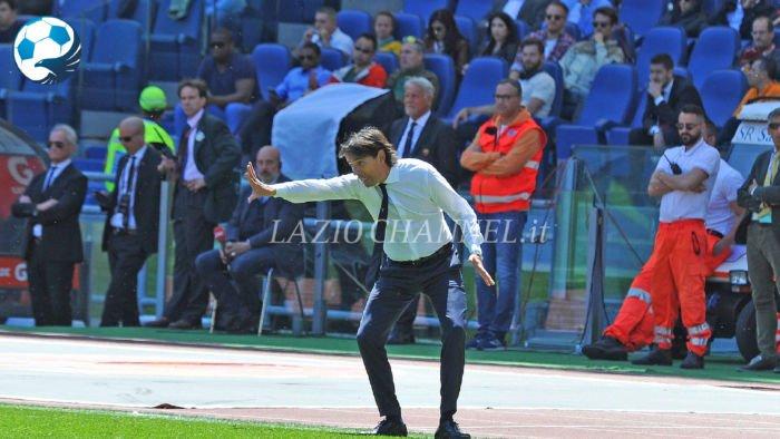 Simone Inzaghi tecnico della Lazio al derby