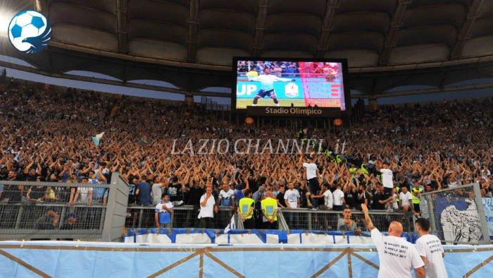 La Curva Nord della Lazio nella finale di Coppa Italia 2017
