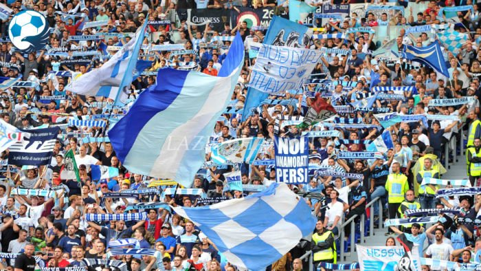La Curva Nord a Lazio Milan