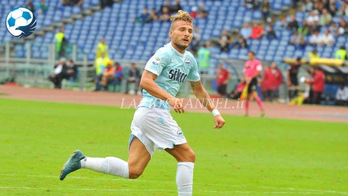Immobile in azione a Lazio Milan