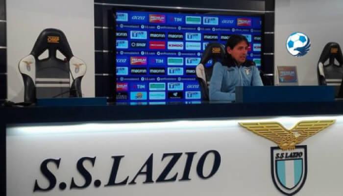 Simone Inzaghi allenatore della Lazio in conferenza stampa