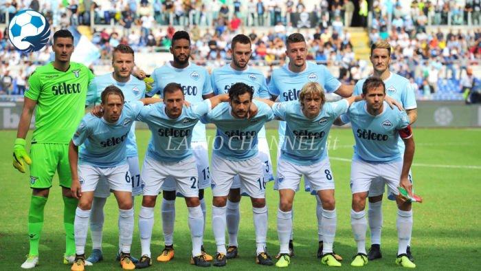 Formazione Lazio nella gara contro il Milan della stagione 2017-18