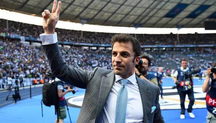 Del Piero ex attaccante Juventus