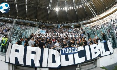 Gli irriducibili Curva Nord Lazio all'Allianz Stadium