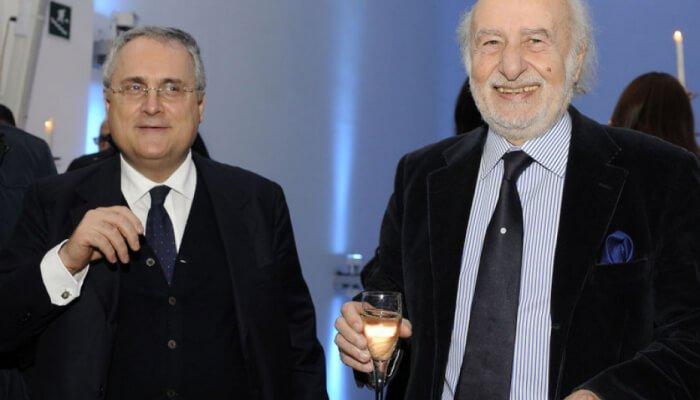Il presidente della Lazio e l'avvocato Gian Michele Gentile