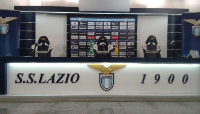 La sala stampa di Formello per le conferenze stampa dell'allenatore della Lazio