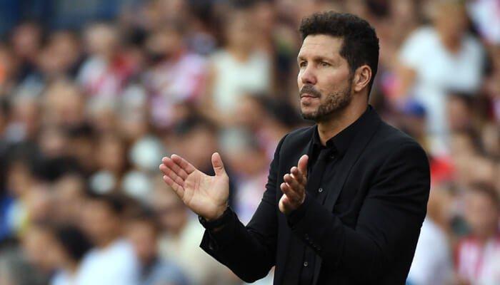 Diego Pablo Simeone allenatore dell'Atletico Madrid