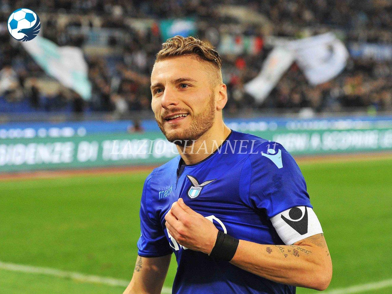 Ciro Immobile con la terza maglia della Lazio
