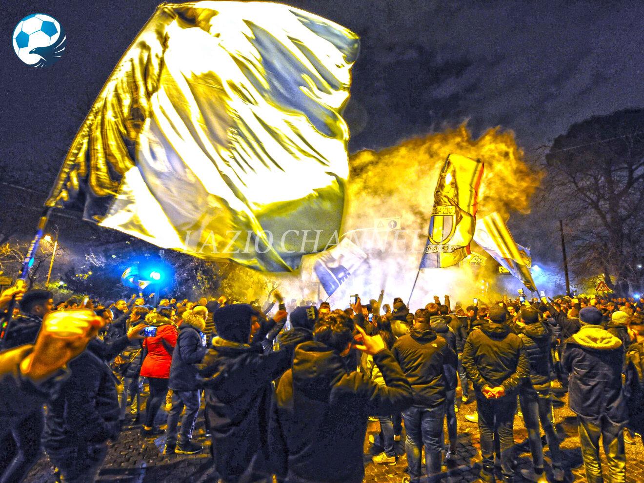 Festa 118 anni Lazio in Piazza della Libertà