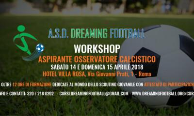 Dreaming Football workshop aspirante osservatore calcistico