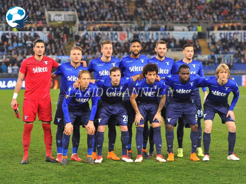 Formazione Lazio contro la Dynamo Kiev