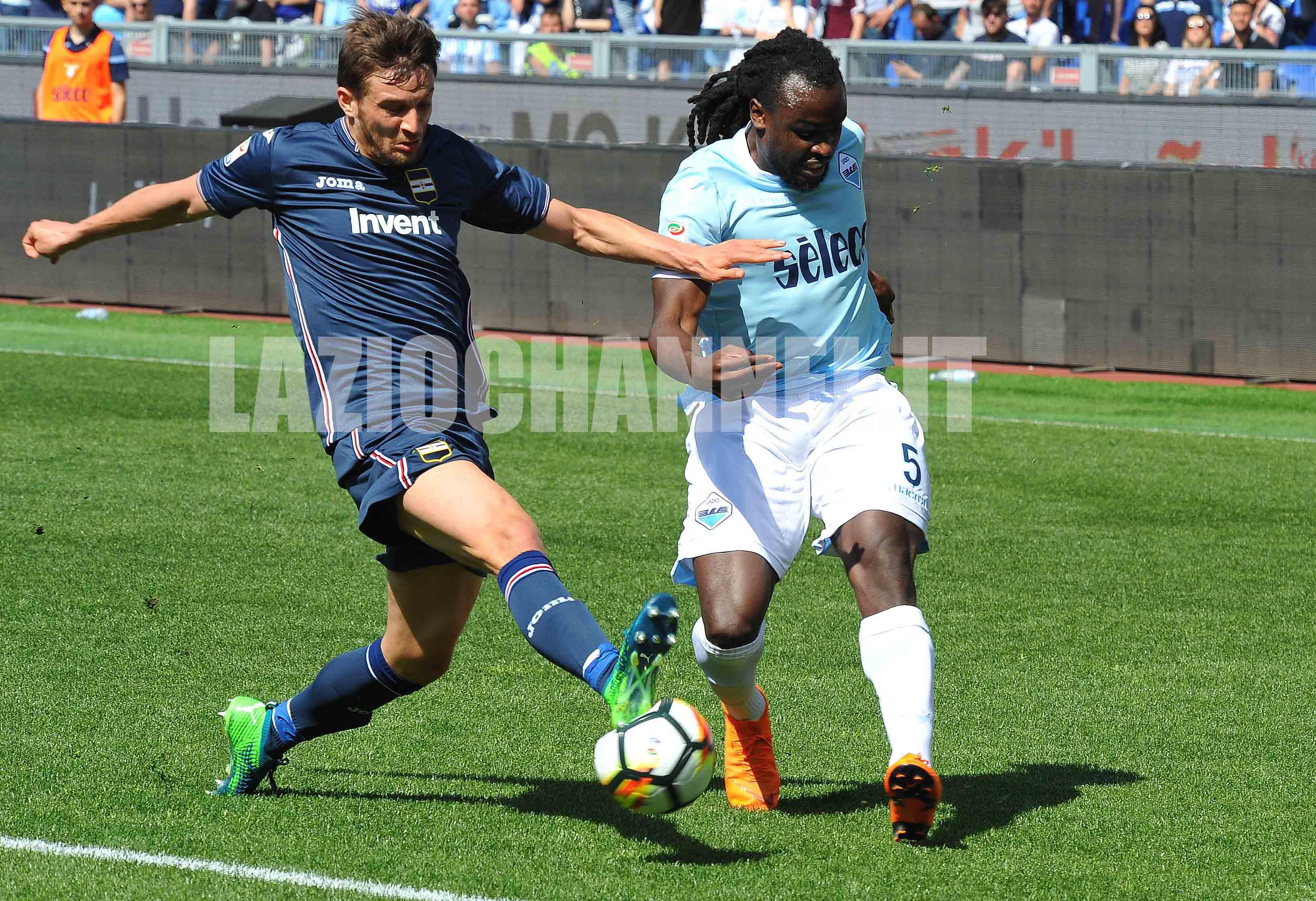 Lukaku in azione con la maglia della Lazio