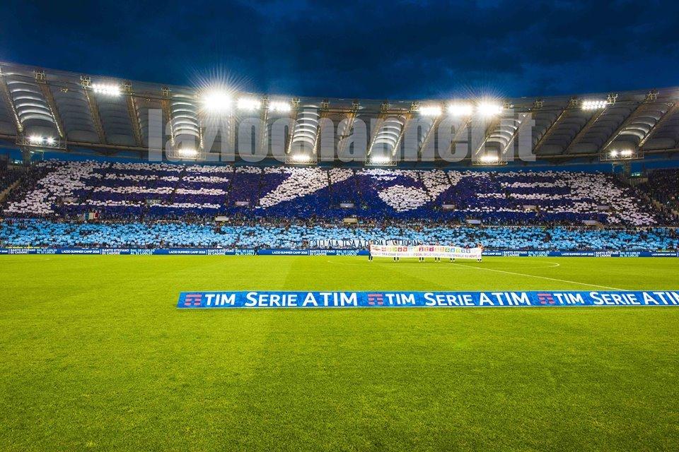 La coreografia della Tevere in Lazio Inter