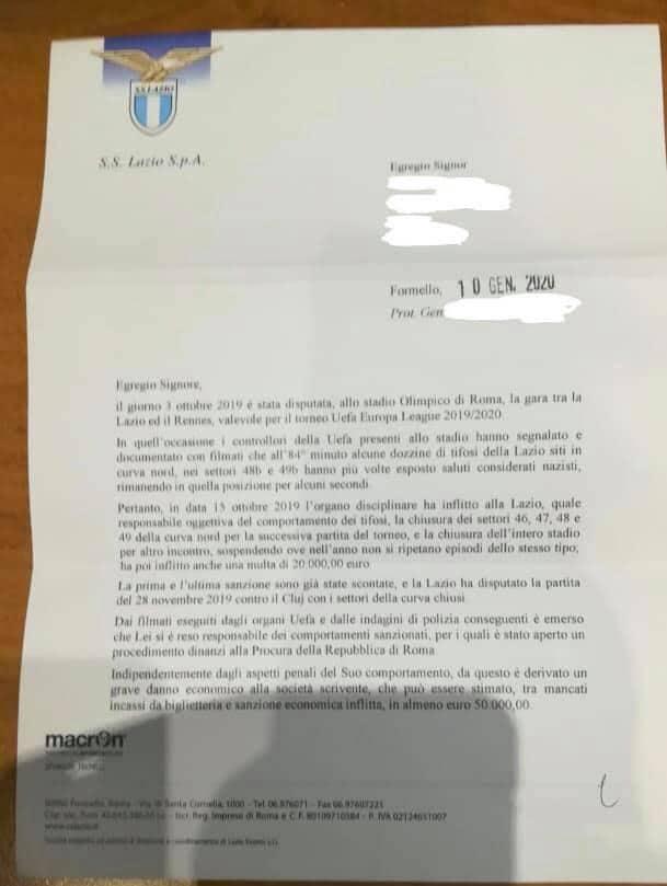 richiesta danni Lazio