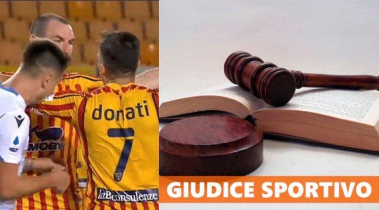 giudice sportivo stangata Patric
