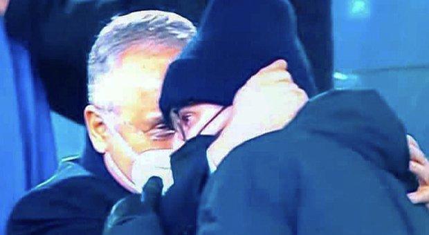 Lazio Lotito e quell'abbraccio al figlio